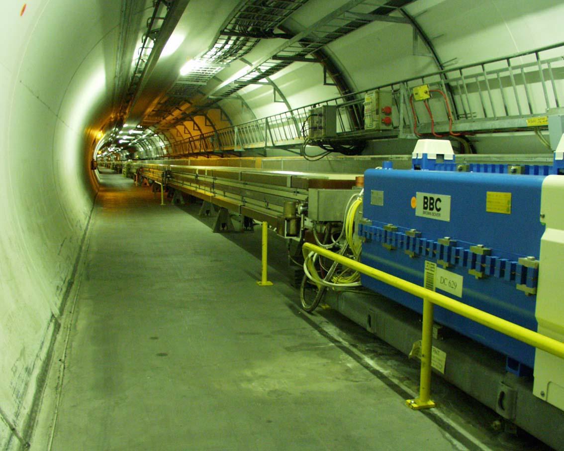 Časť 27kilometrového tunela LEP